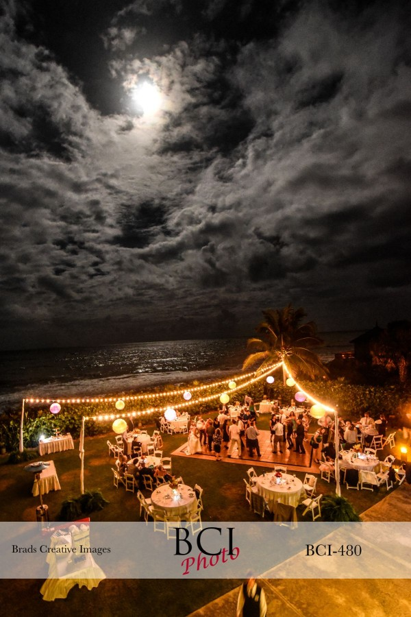 The Full Moon Shines Down Upon Wedding Party Dancing Night Away At Disney S Vero Beach Resort
