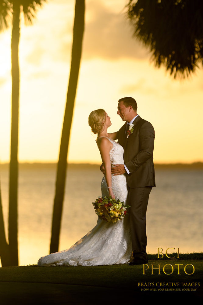 Hot Summer Wedding at Pietros on the River:  Treasure Coast Wedding photographers