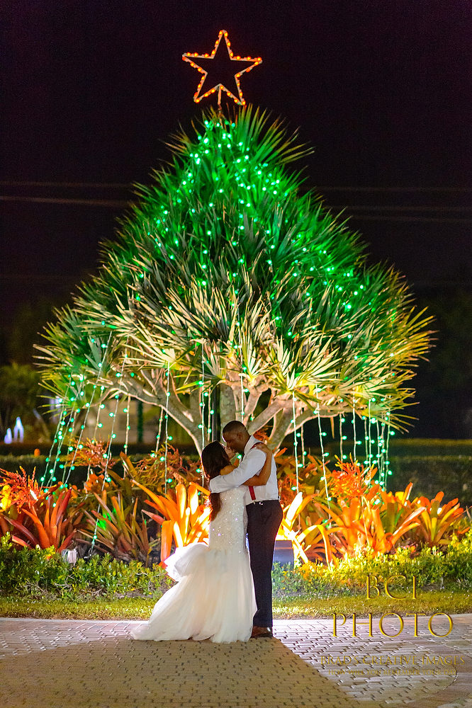 Festive Christmas Themed Wedding at the Pt St Lucie Botanical Gardens