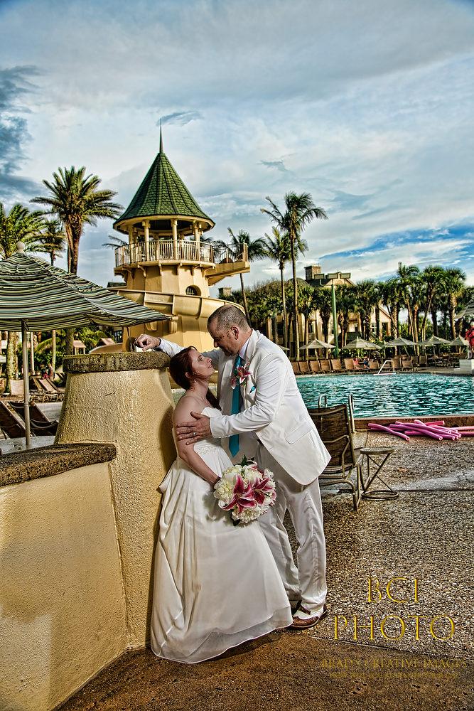 Vero Disney Hosts 3rd Rainy Day Wedding of the Weekend.
