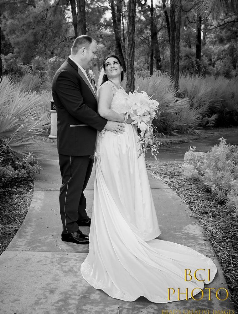 Rainy Day Wedding at the Pt St Lucie Botanical Gardens